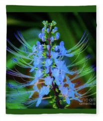 Tropical Plants And Flowers In Hawaii Fleece Blanket