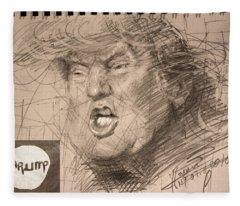 Trump Fleece Blanket