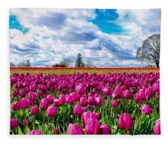 Tulip Field Fleece Blanket