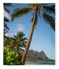 Tunnels Beach Haena Kauai Hawaii Bali Hai Fleece Blanket