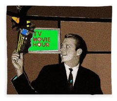 Tv Movie Hour Jake Crellin Kvoa Tv 1962 Sepia Toned Color Drawing Added 2009 Fleece Blanket