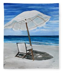 Under The Umbrella Fleece Blanket