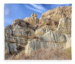 Unstable Cliffs Fleece Blanket