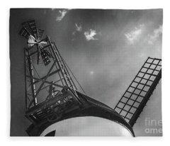 Unusual View Of Windmill - St Annes - England Fleece Blanket