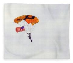 Us Army Golden Knights Fleece Blanket