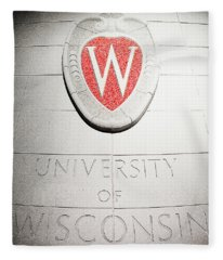 Uw Crest Fleece Blanket