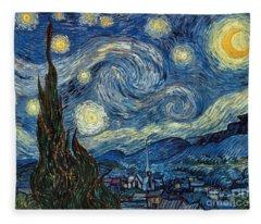 Van Gogh Starry Night Fleece Blanket