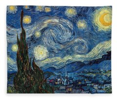 Van Gogh Starry Night Fleece Blanket