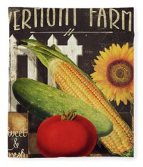 Vermont Farms Vegetables Fleece Blanket