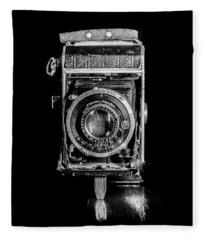Vintage Camera Fleece Blanket