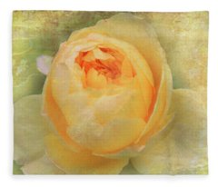 Vintage Rose Fleece Blanket