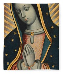Virgin Of Guadalupe Fleece Blanket