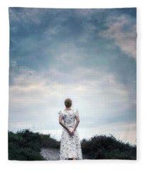 Walking In The Heather Fleece Blanket