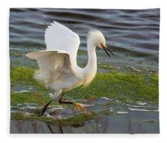 Walking On Water Fleece Blanket