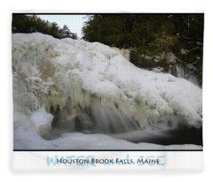 Water And Ice Fleece Blanket