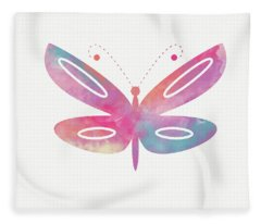 Watercolor Butterfly 2- Art By Linda Woods Fleece Blanket