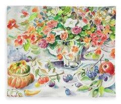 Watercolor Series 166 Fleece Blanket