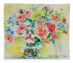 Watercolor Series 203 Fleece Blanket