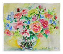 Watercolor Series 203 Fleece Blanket