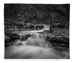 Fleece Blanket featuring the photograph Waterfall In Austin Texas by Todd Aaron