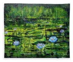Waterlilies Fleece Blanket