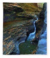 Watkins Glen Gorge Fleece Blanket