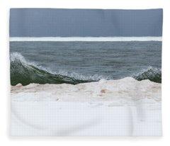 Waves Of Lake Michigan Fleece Blanket