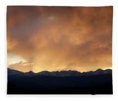 Western Sunset Fleece Blanket