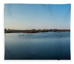 Wetlands Panorama  Fleece Blanket