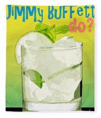 What Would Jimmy Buffett Do Fleece Blanket