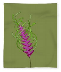 whEAT alien FUCsia I Fleece Blanket