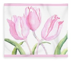 Whispers Of Spring Fleece Blanket
