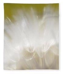 White Blossom 1 Fleece Blanket
