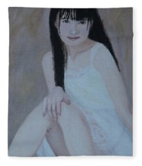 White Dress Fleece Blanket