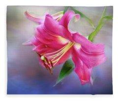 White Hall Lily Fleece Blanket