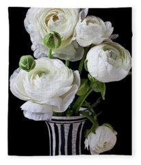 White Beauty Photographs Fleece Blankets