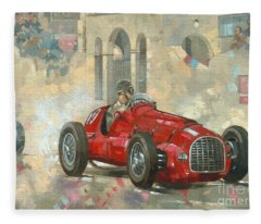Whitehead's Ferrari Passing The Pavillion - Jersey Fleece Blanket