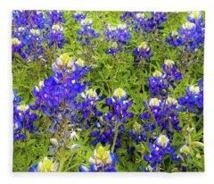 Wild Bluebonnets Blooming Fleece Blanket