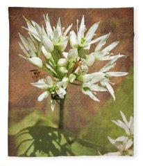 Wild Garlic Fleece Blanket