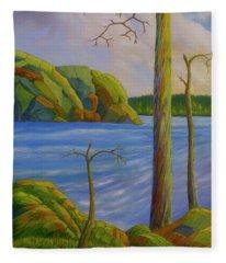 Wilderness Lake Fleece Blanket