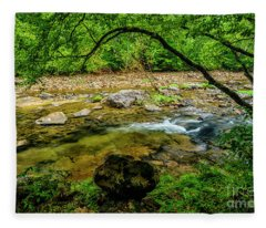 Williams River Summer Flow Fleece Blanket