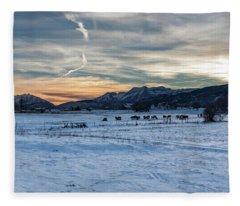 Winter Range Fleece Blanket
