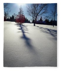 Winter Shadows Fleece Blanket