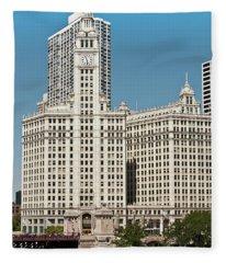 Wrigley Building Fleece Blanket