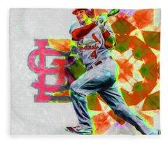 Yadier Molina St. Louis Cardinals Baseball Fleece Blanket