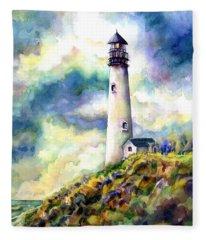 yaquina Head Lighthouse Fleece Blanket