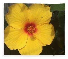 Yellow Beauty Fleece Blanket