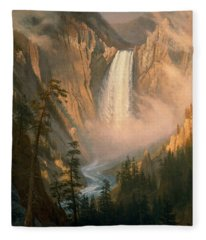 Yellowstone Falls Fleece Blanket