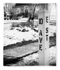 10 Ave And E St Belmar New Jersey Fleece Blanket
