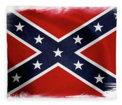 Confederate Flag 10 Fleece Blanket